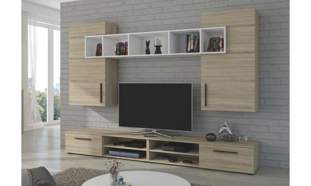 Moderní obývací stěna Brela, sonoma
