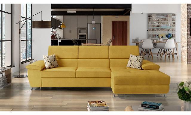 Luxusní sedací souprava Cres, žlutá Velvet Venus