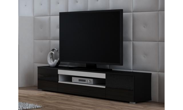 TV stolek Vito, bílá/černá
