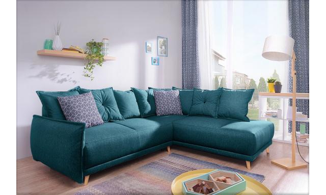 Luxusní sedací souprava Levano, smaragdová