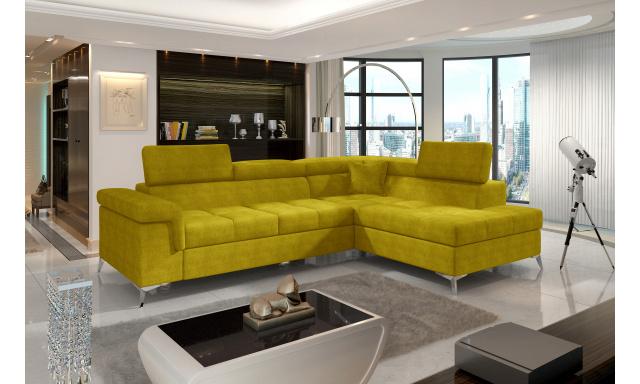 Moderní rohová sedačka Colnago, žlutá