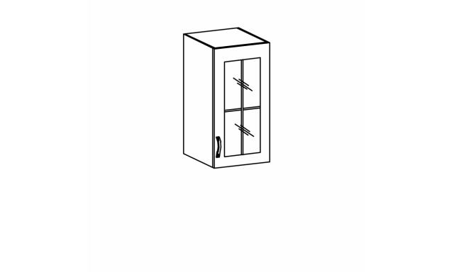 REVAL horní skřínka 40cm - vitrína, levá