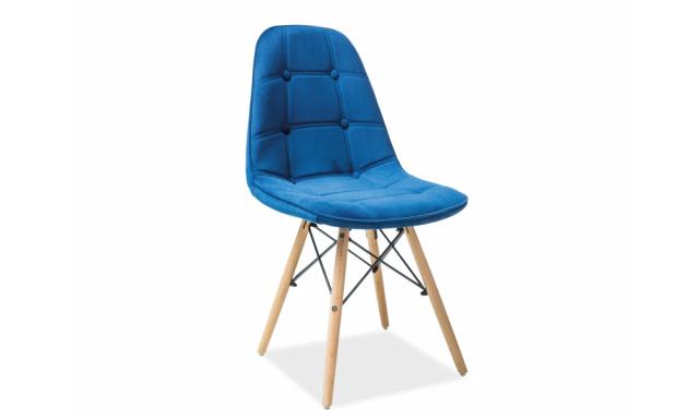 Designová jídelní židle Alexis, modrá látka