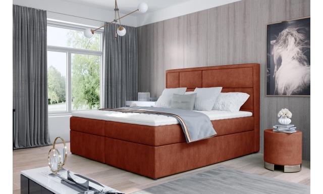 Kvalitní box spring postel Meredit 180x200, červená Dora