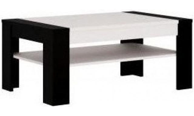 Konferenční stůl Spot, bílá perla/ černý