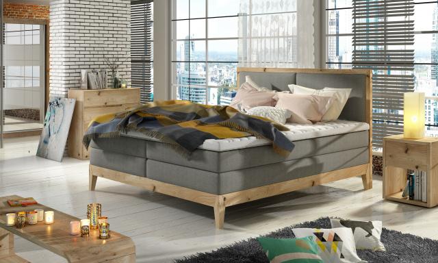 Luxusní box spring postel India 180x200