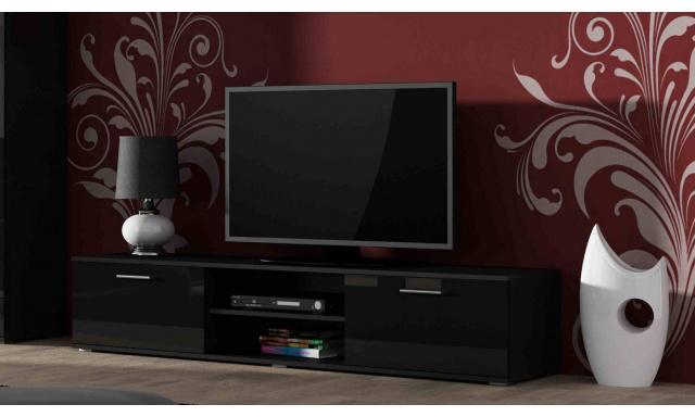 Moderní televizní stolek Zita 180, černá/černý lesk