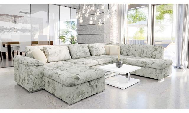 Luxusní sedací souprava Kaniko, květinový vzor
