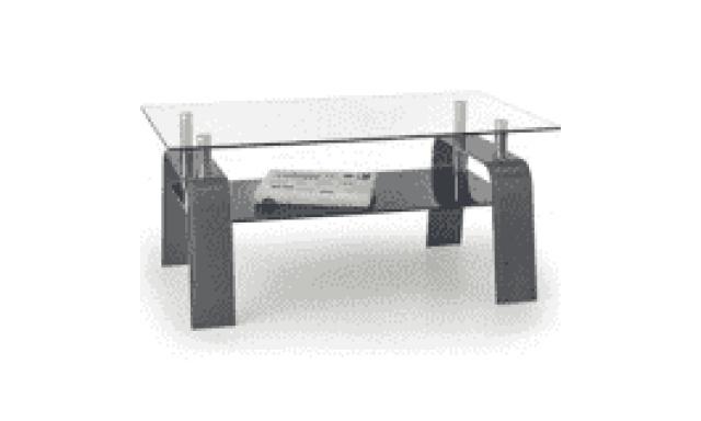 Konferenční stůl Naomi, popelavě - černý