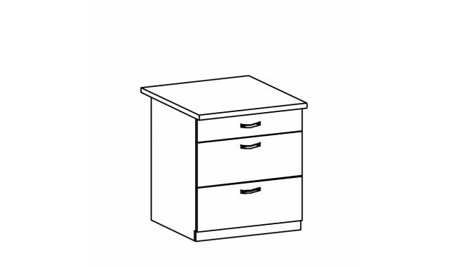REVAL dolní skříňka 80cm - zásuvková
