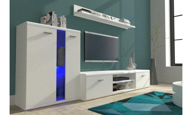 Moderní obývací stěna Life II, bílá