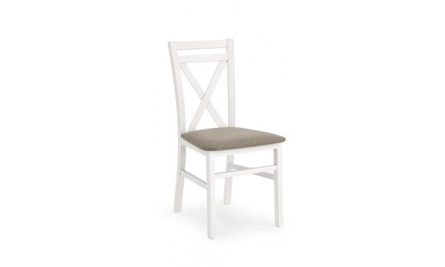 Jídelní židle Derek s polstrem, bílá
