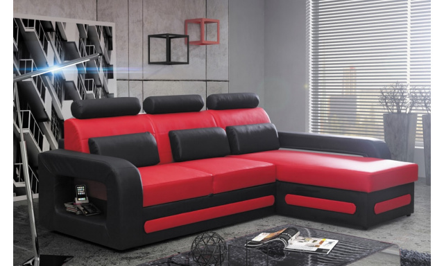 Moderní rohová sedačka Bering mini, červená