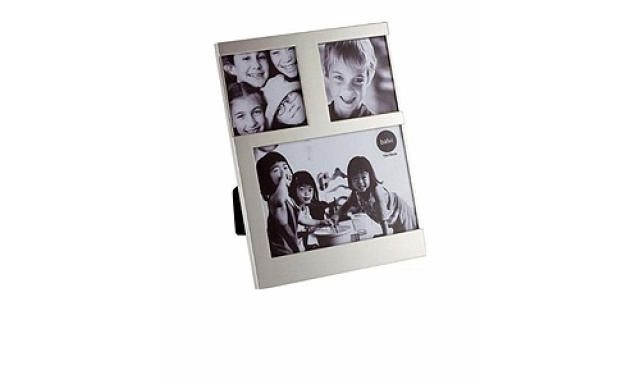 Stolní fotorámeček BALVI Dijon, 1x 10x10cm / 2x 7,7x7,7cm, stříbrný