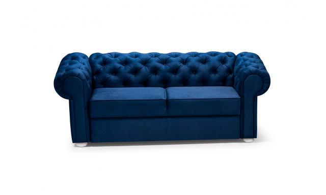 Pohovka ve stylu Chesterfield Valerie 2er, modrá
