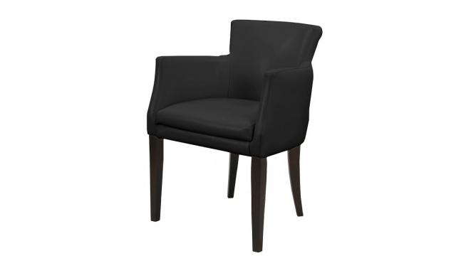 Dizajnová jedálenská stolička Faro 1, Poťah žinilky Oslo 35 zelená