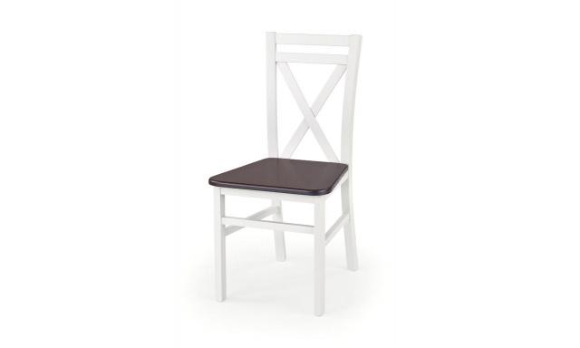 Jídelní židle Derek, ořech / bílá