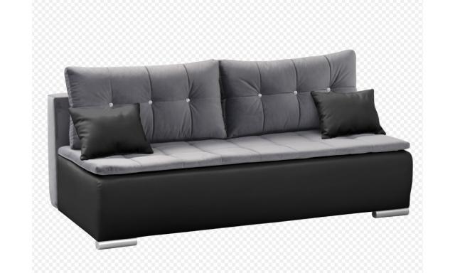 Moderní pohovka Zuzka, černá/šedá