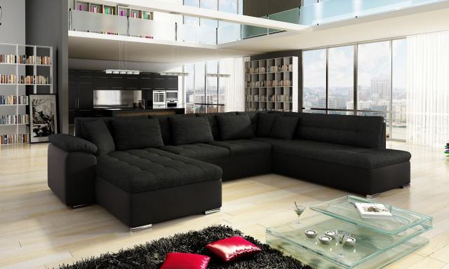 Luxusní sedací souprava Kalla, černá