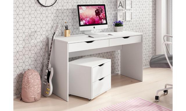 PC stůl Marida, bílý