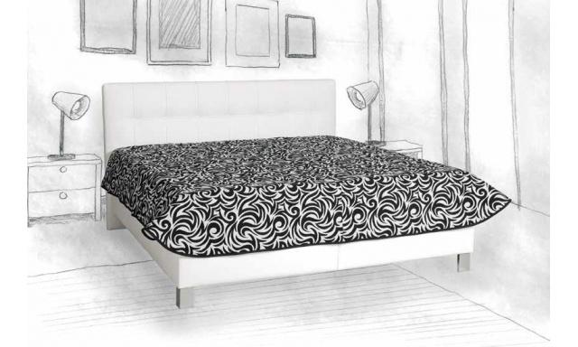 Čalouněná postel Elsa, 160x200cm, bílá