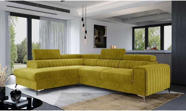 Moderní sedací souprava Ledrano, žlutá Monolith