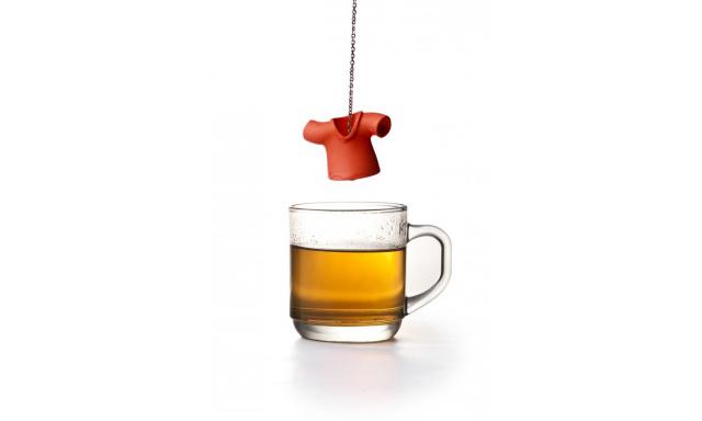 Čajové sítko QUALY Tea Shirt, červené