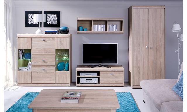 Moderní bytový nábytek Spezzo sestava C, sonoma