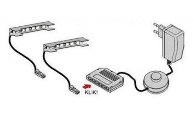 LED osvětlení 2-bodové MODRÉ