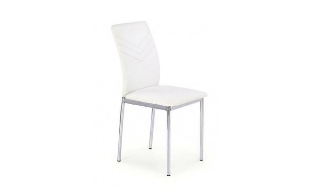 Čalouněná jídelní židle H601, bílá