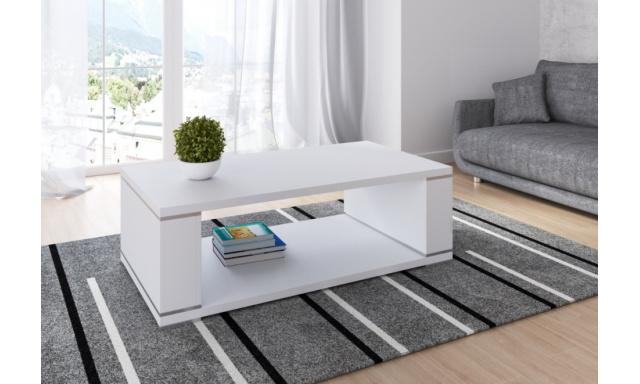 Moderný konferenčný stôl Lila, biely mat
