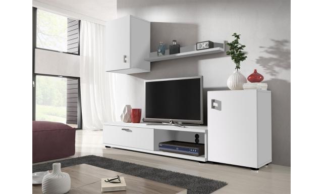 Moderní obývací stěna Linda, bílá