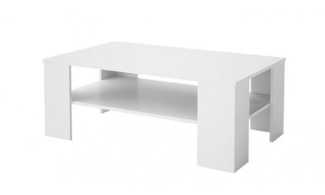Levný konferenční stůl Helly, bílý