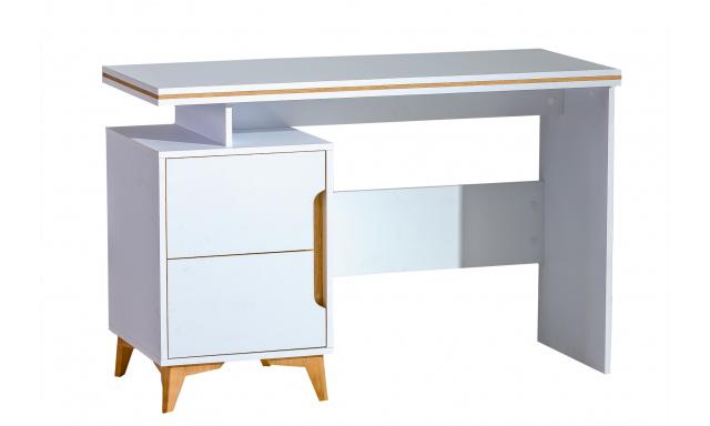 PC stůl Gaston GA12, jasan/bílá