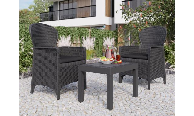Zahradní sestava Nazaret, 2x křeslo + stolek