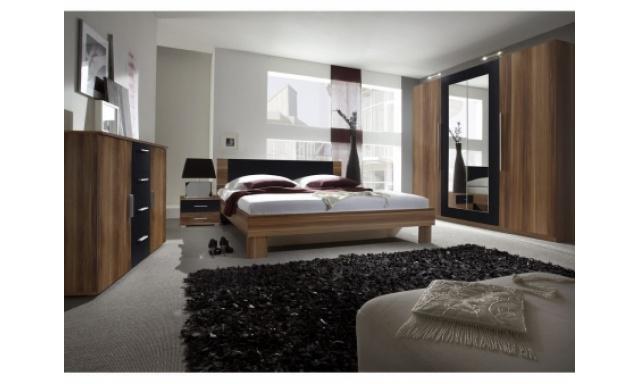 Ložnice Veronika s postelí 180cm, ořech/černá