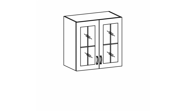 REVAL horní skřínka 60cm - vitrína