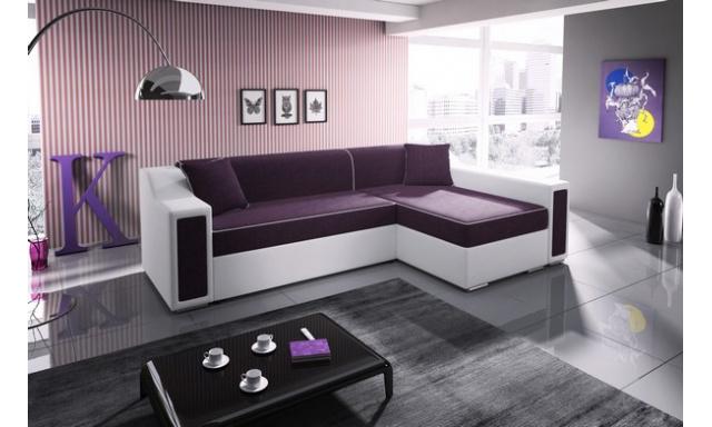 Moderní sedací souprava Mofon MINI , bílá/fialová