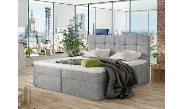 Moderní box spring postel Nestor 160x200, šedá
