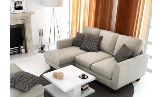 Designová sedací souprava Haus BIS, Levý roh, Žinilka Oslo 100 černá