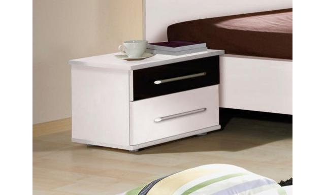 Noční stolek Dublin, DU23, bílá/černá