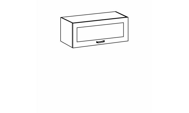 REVAL horní skřínka 80cm - vitrína nízká