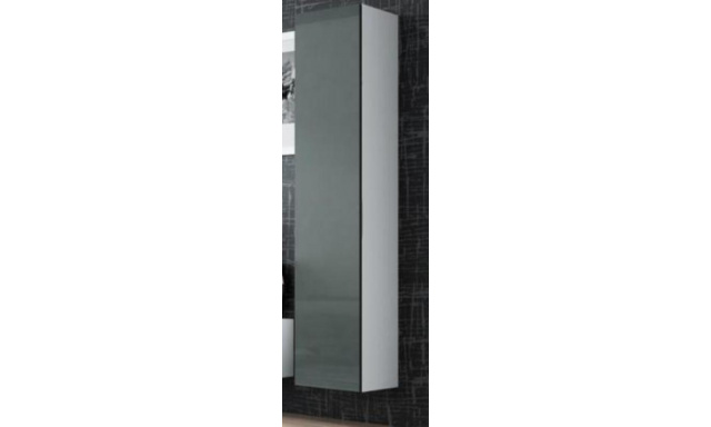 Závěsná skřínka Igore 180 plná, bílá/šedý lesk