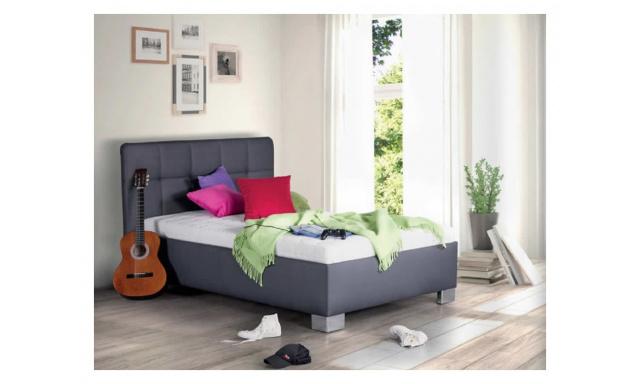 Kvalitní postel Kelly, 90x200cm, matrace Nelly, šedá