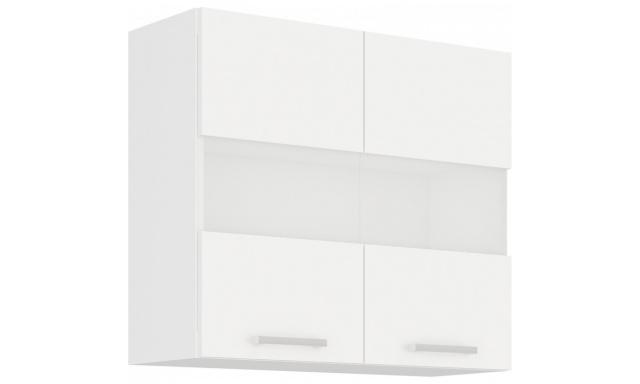 ELKO BÍLÁ horní skřínka 80cm - vitrína