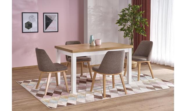 Rozkládací jídelní stůl Togo 2, dub riviéra / bílá