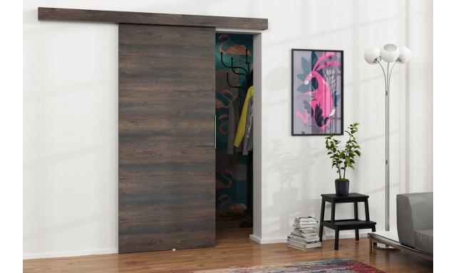 Zasouvací dveře Marbel 80cm, jasan tmavý