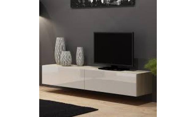 Moderní televizní stolek Igore 180, sonoma/bílý lesk