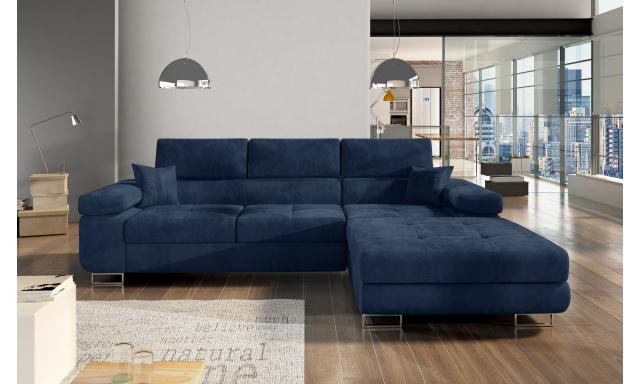 Moderní rohová sedačka Alcudia, modrá