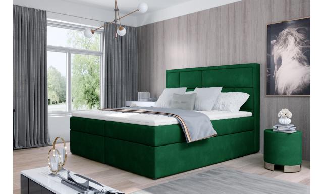 Kvalitní box spring postel Meredit 180x200, zelená Kronos